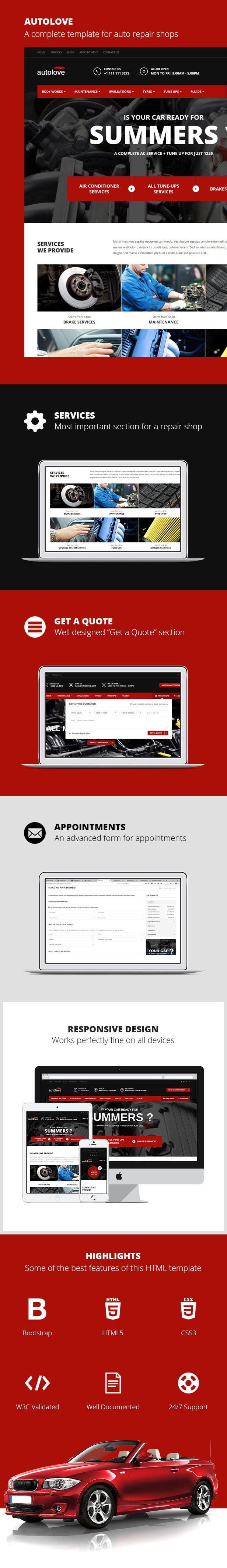 Autolove - Vehicle Repair Mechanic Shop Template